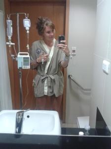 Hospital selfie.