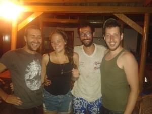 L-R: Fréd, Hannah, Giovanni, Jeroen